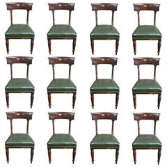 Set of 12 Period Regency Dining Chairs