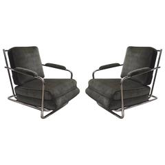 Pair of Lounge Chairs by Lloyd Manufacturing, USA, circa 1935