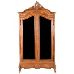 Louis XV Style Armoire from France, 19th Century