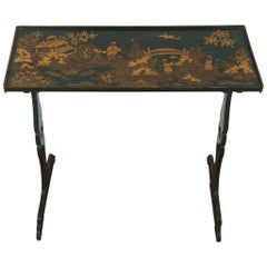 Edwardian Small Green Japanned Side Table