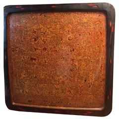 Stunning Japanese Antique Handmade Hand Lacquered Tea Tray and Wall Art
