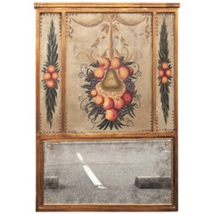 Italian Trumeau with Inset Panels of Fruit
