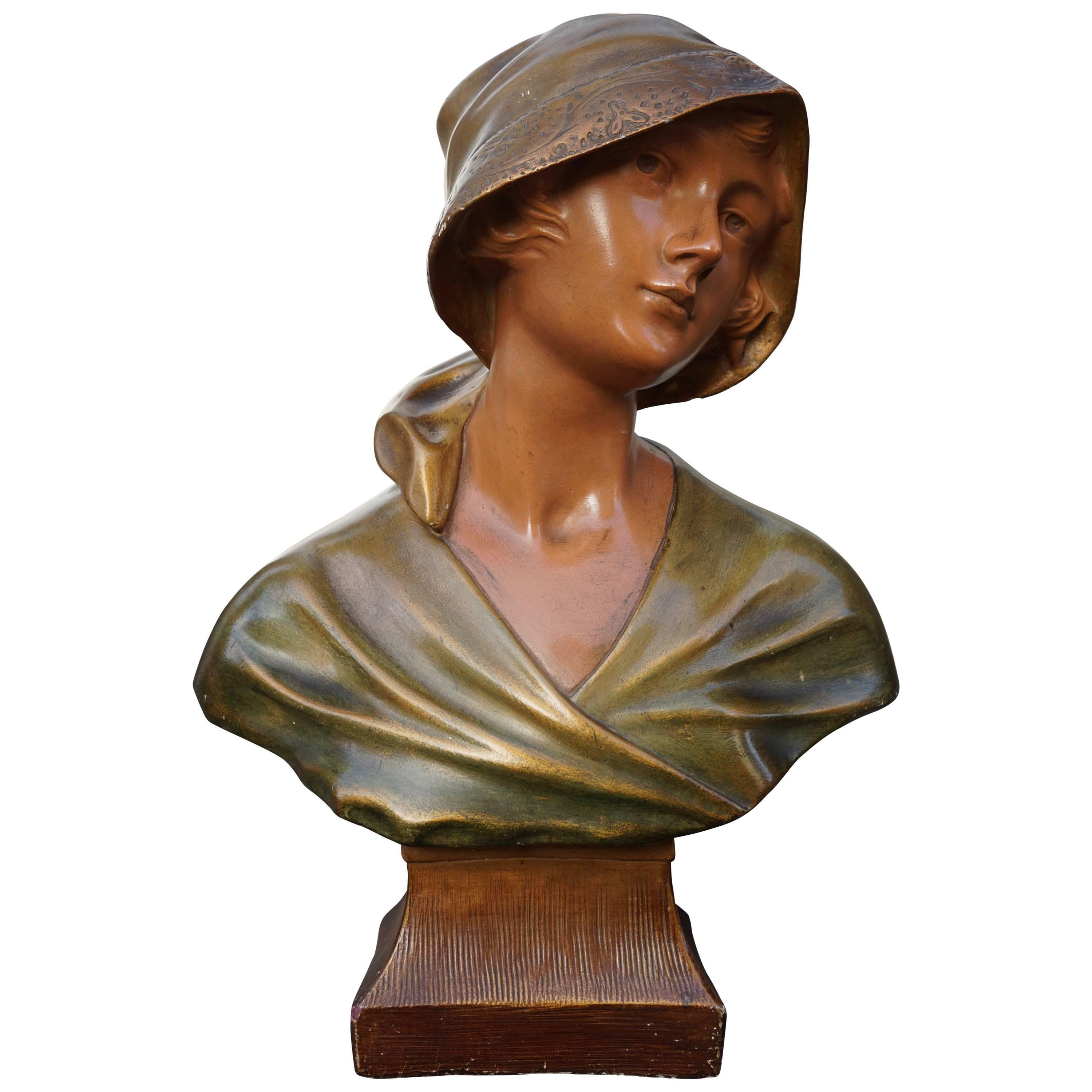 Bust of a Woman in Plaster