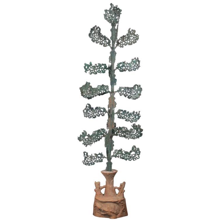 Important Ancient China Bronze Money Tree, Han Dynasty 25BC-220AD