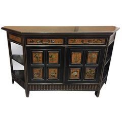 English Aesthetic Movement Painted Ebonized Side Cabinet, 19th Century