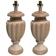 Large-Scale Tuscan Style Baluster Lamps