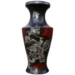 Japanese Vase Inlaid with Mother-of-Pearl