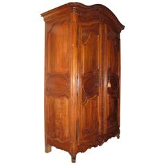 French Louis XV Carved Walnut Armoire, 18th Century