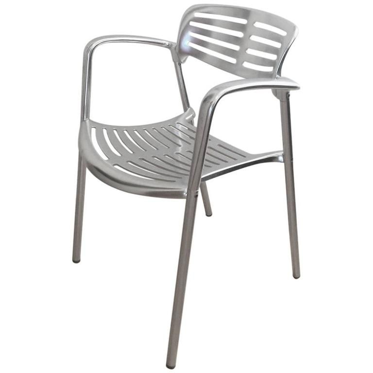 Toledo Stacking Armchairs In Aluminium By Jorge Pensi For Knoll, 24 Chairs  For Sale
