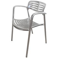 Toledo Stacking Armchairs in Aluminium by Jorge Pensi for Knoll, 24 Chairs