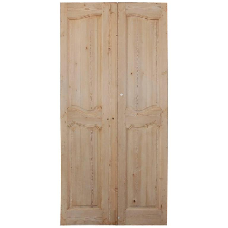Pair of 19th Century French Pine Doors For Sale
