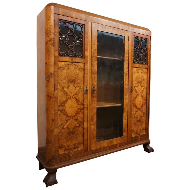 Art Deco Three-Door Armoire, circa 1930 For Sale
