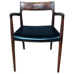 """Niels O. Møller for J.L. Møllers """"Model 57"""" Solid Rosewood Captain's Chair"""
