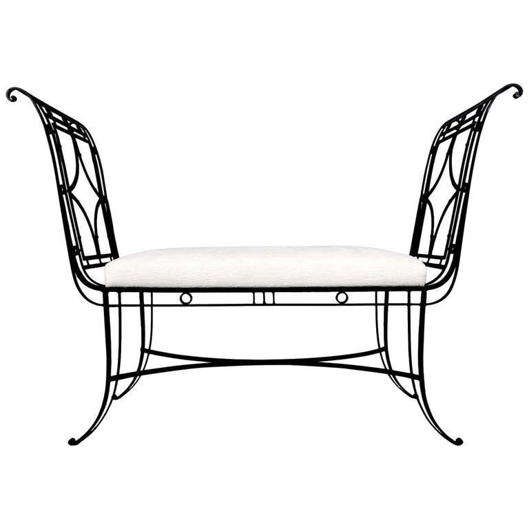 Regency Style Iron Bench