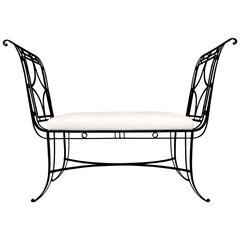 Regency Style Iron Bench