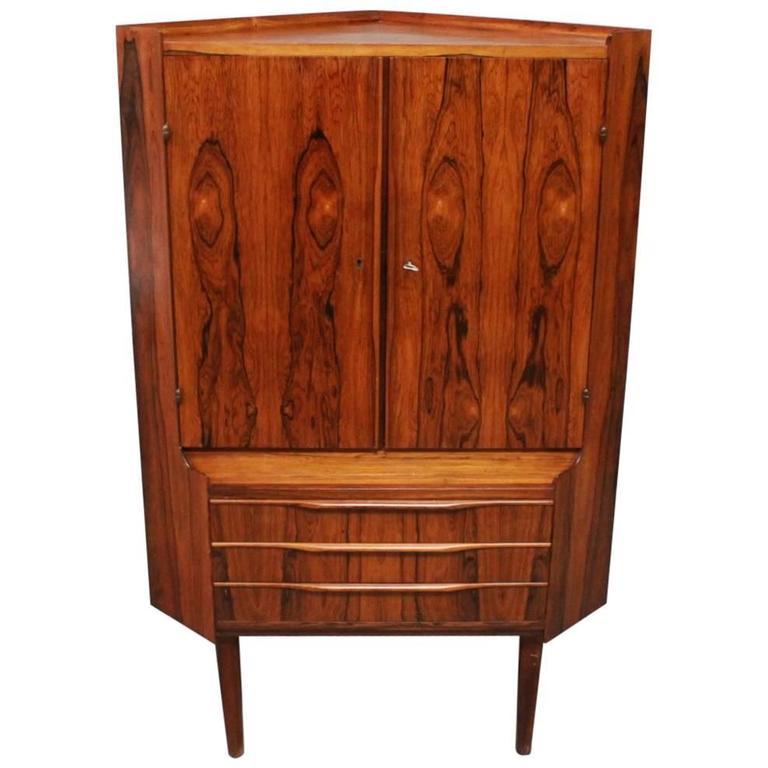 Corner Cabinet in Rosewood of Danish Design, 1960s