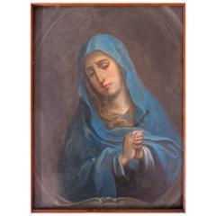 Óleo Sobre Cobre, Virgen Dolorosa Del Pintor Miguel Cabrera
