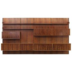 Rosewood Wall Unit from the 1960s, Germany