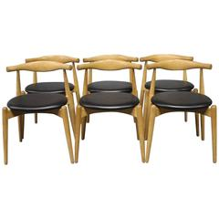 Set of Six, Elbow Chairs, CH20, by Hans J. Wegner and Carl Hansen & Son, 2008