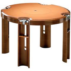 Game Table in Light Walnut, Designed by J. Tresserra, 1987