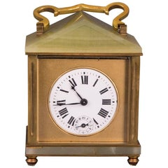 19th Century Neoclassical Bronze French Travel Watch Travel Alarm Clock