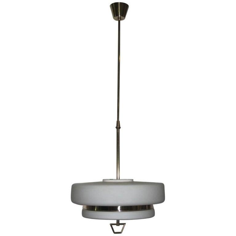 Italian Mid-Century Ceiling Lamp Stilnovo Design For Sale