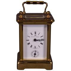20th Century Neoclassical Travel Watch Alarm Clock Swiss Made Matthew Norman
