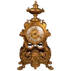 19th Century Historism Antique Chimney Clock Pendule