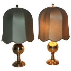 Pair of Table Lamps Very Elegant, 1950s, Italian