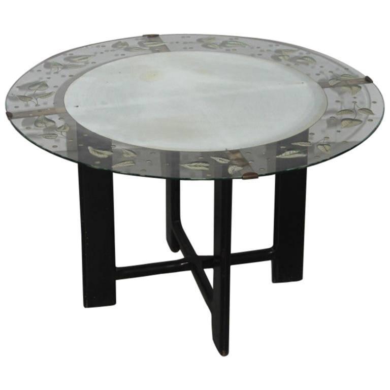 Rare Cristal Art Table Coffee Midcentury Italian Design