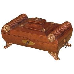 Regency Period Leather Sewing Casket