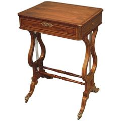 Fine 19th Century Regency Period Kingwood Occasional Table