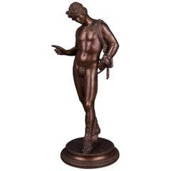 19th Century Bronze Sculpture of Narcissus, J. Chiurazzi