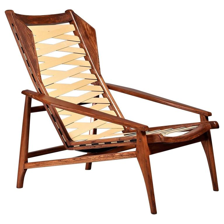 Variation on Gio Ponti Lounge Chair, Italy, 1950s For Sale