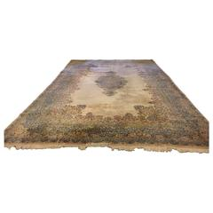 Monumental Signed Kirman Carpet