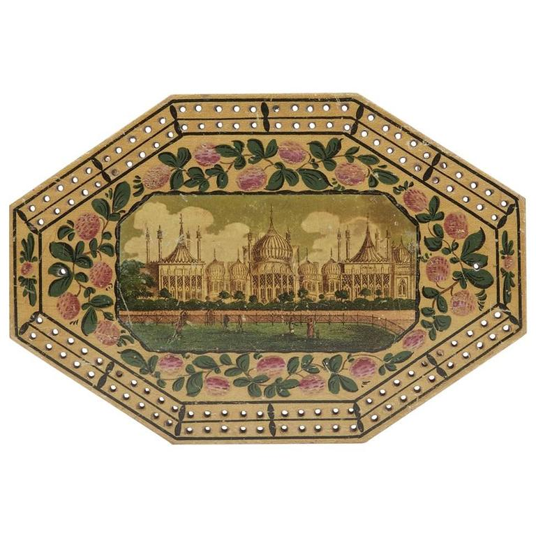 Georgian Brighton Pavilion Cribbage Board, circa 1800 For Sale