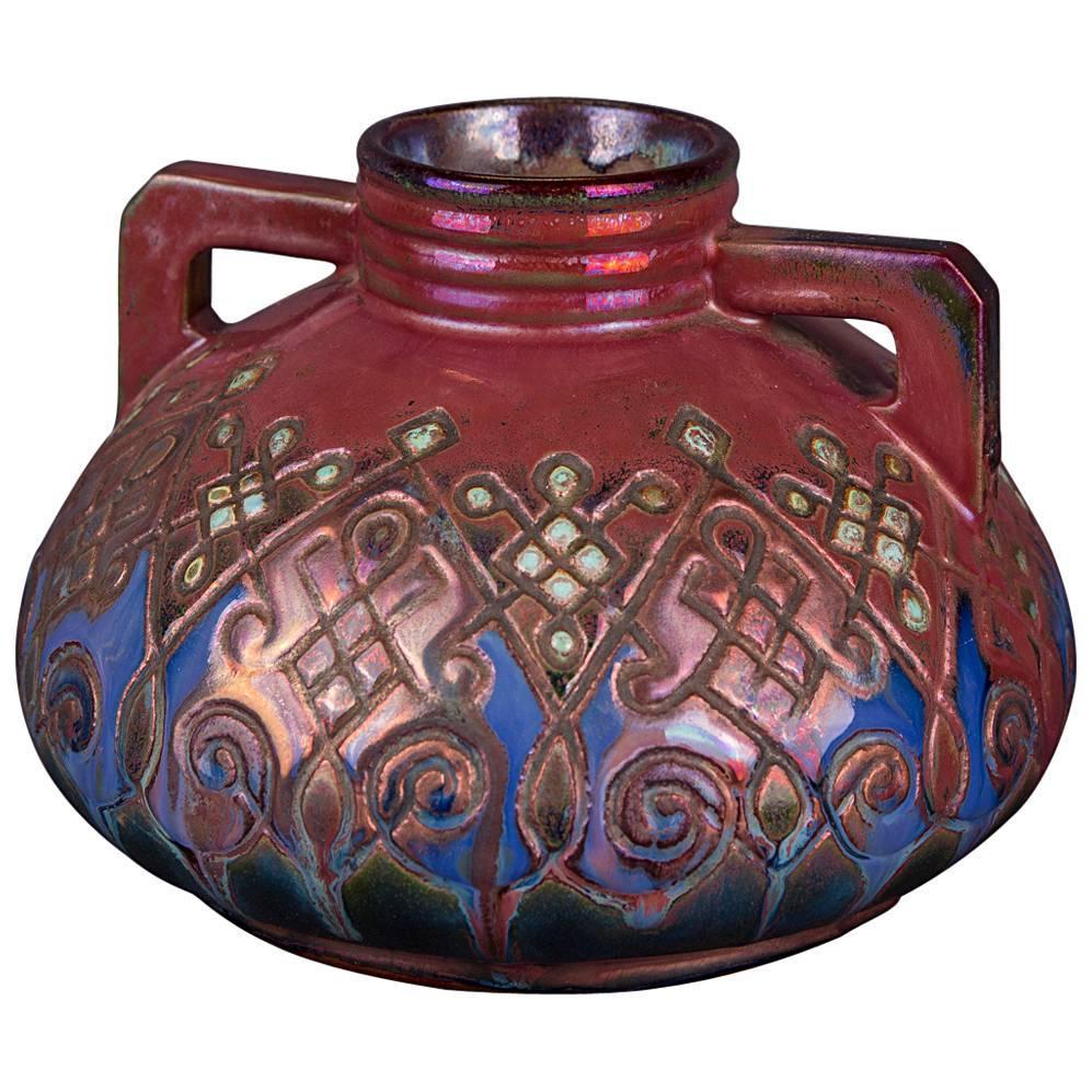 19th Century Art Nouveau Ceramic Vase