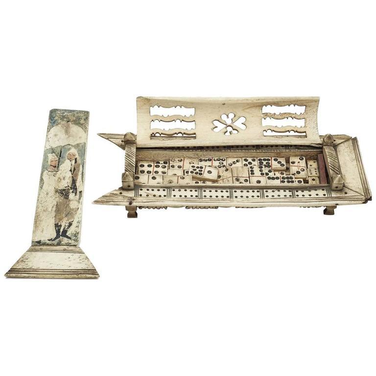 Napoleonic Prisoner of War Games Box, circa 1800 For Sale