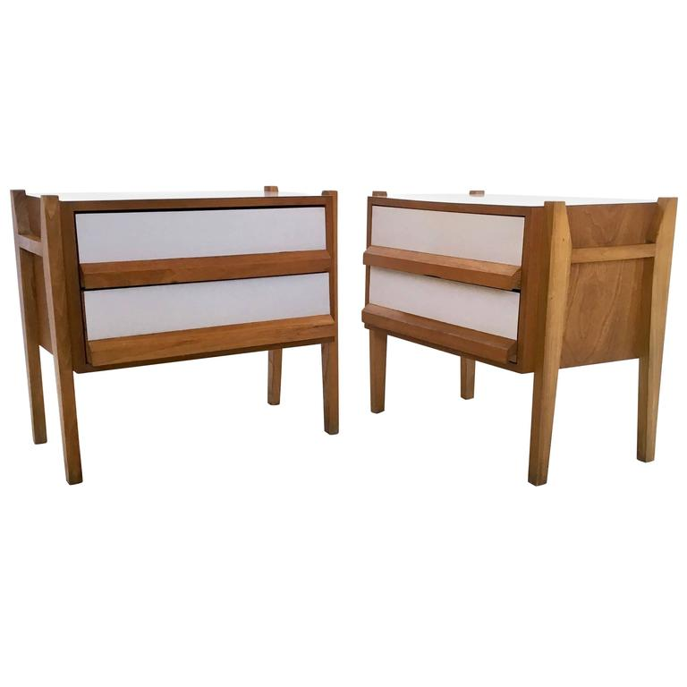 italian oak and formica bedside tables 1950s for sale at 1stdibs