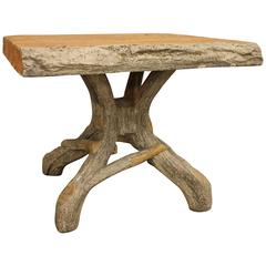 French Faux Bois Garden Table