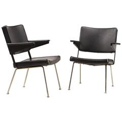 Pair of Gispen Chairs 1268 by Andre Cordemeijer