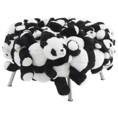 Fernando & Humberto Campana, Panda Pouf, Stuffed Animals, Canvas, Steel, 2010