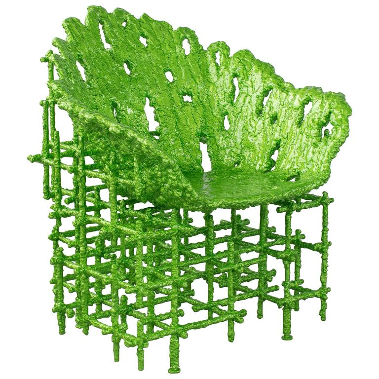 Chris Schanck, Chair, Resin, Aluminum, Polystyrene, Steel, Green, 2016 For Sale