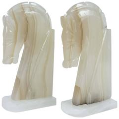 Pair of Art Deco Style Horses Bookends