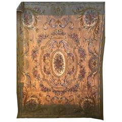 Fine and Very Decorative Aubusson Carpet or Throw