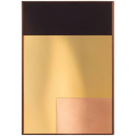 'Constructivist Mirror Series - Rectangle' Modern Wall Mirror in Polished Copper