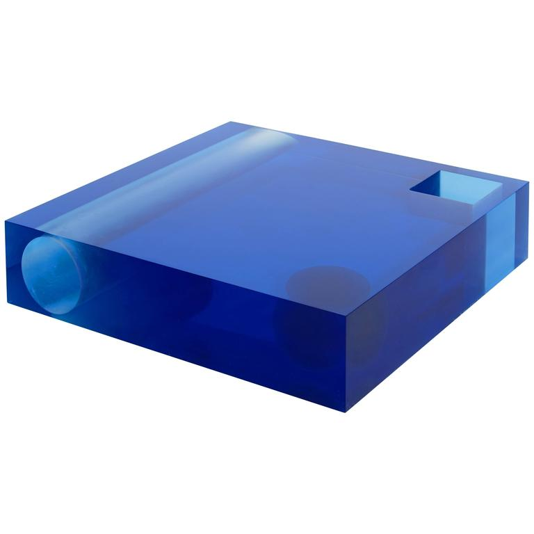 Faye Toogood, Coffee Table, Blue, Crystal Resin, Transparent, 2011 For Sale