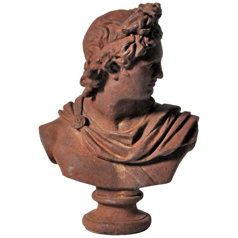 Iron Bust of Apollo Belvedere