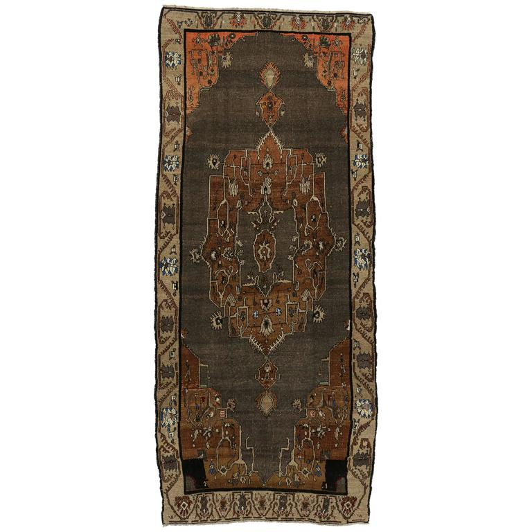 Mid Century Modern Rugs: Vintage Kars Gallery Rug With Mid-Century Modern Style For