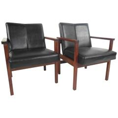 Pair of Mid-Century Modern Office Side Chairs
